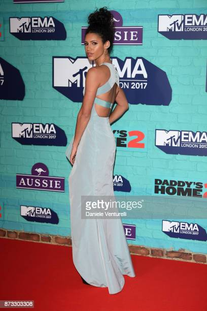 Vick Hope attends the MTV EMAs 2017 held at The SSE Arena Wembley on November 12 2017 in London England