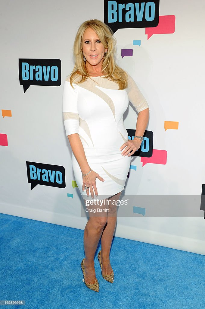 Vicki Gunvalson attends the 2013 Bravo New York Upfront at Pillars 37 Studios on April 3, 2013 in New York City.