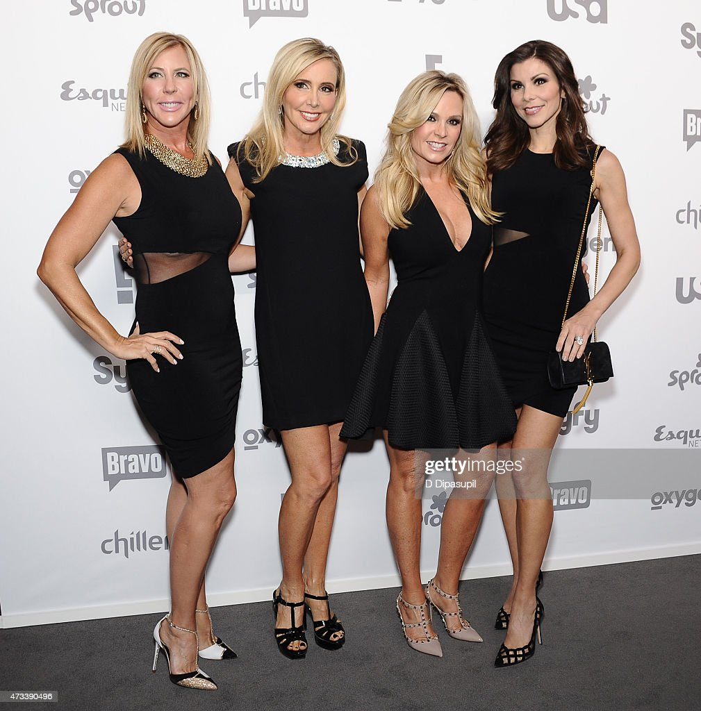 <a gi-track='captionPersonalityLinkClicked' href=/galleries/search?phrase=Vicki+Gunvalson&family=editorial&specificpeople=4616198 ng-click='$event.stopPropagation()'>Vicki Gunvalson</a>, <a gi-track='captionPersonalityLinkClicked' href=/galleries/search?phrase=Shannon+Beador&family=editorial&specificpeople=12539398 ng-click='$event.stopPropagation()'>Shannon Beador</a>, <a gi-track='captionPersonalityLinkClicked' href=/galleries/search?phrase=Tamra+Judge&family=editorial&specificpeople=11251133 ng-click='$event.stopPropagation()'>Tamra Judge</a>, and Heather Dubrow attend the 2015 NBCUniversal Cable Entertainment Upfront at The Jacob K. Javits Convention Center on May 14, 2015 in New York City.