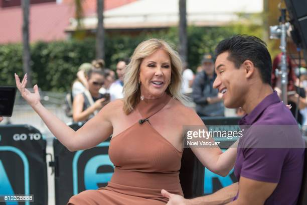 Vicki Gunvalson visits 'Extra' at Universal Studios Hollywood on July 10 2017 in Universal City California