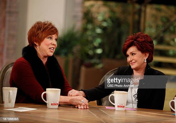 Vicki Lawrence visits the ladies of The Talk on Thursday Nov 7 2013 on the CBS Television Network Vicki Lawrence and Sharon Osbourne shown