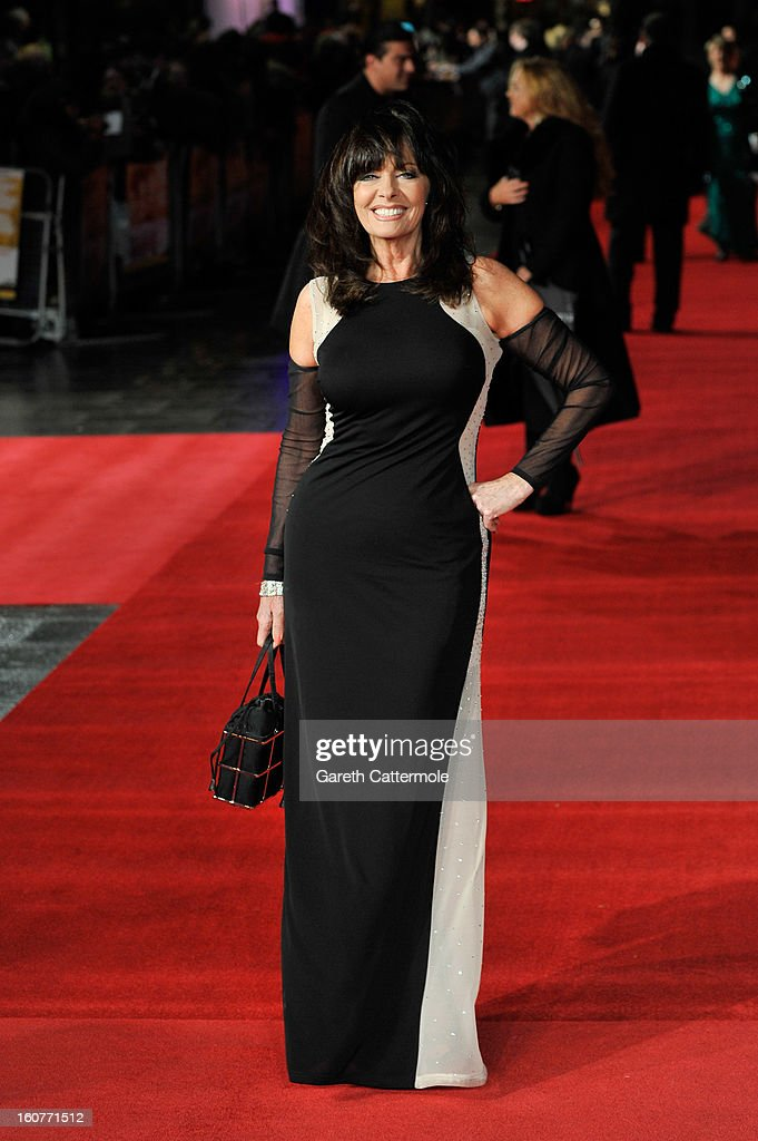 Vicki Michelle attends the UK Premiere of 'Run For Your Wife' at Odeon Leicester Square on February 5 2013 in London England