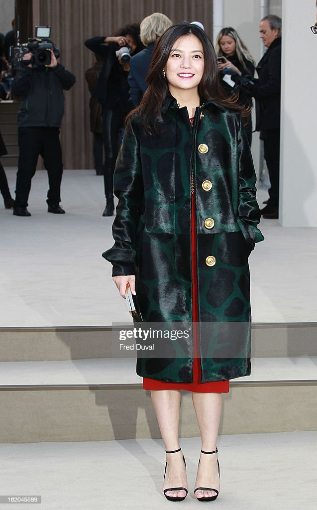 Vicki Zhao attends the Burberry Prorsum show during London Fashion Week Fall/Winter 2013/14 at on February 18, 2013 in London, England.