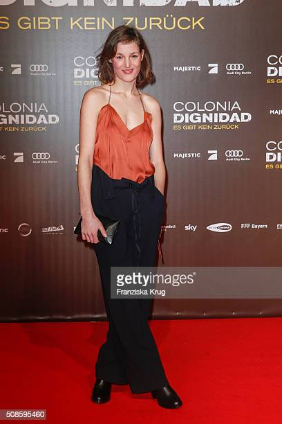 Vicky Krieps attends the 'Colonia Dignidad Es gibt kein zurueck' Berlin Premiere on February 5 2016 in Berlin Germany
