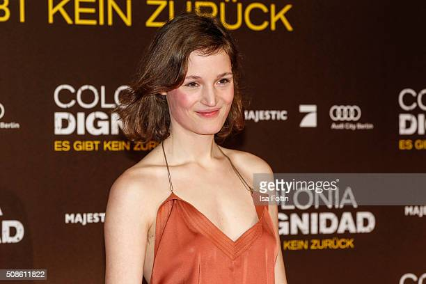 Vicky Krieps attends the 'Colonia Dignidad Es gibt kein zurueck' Berlin Premiere on February 05 2016 in Berlin Germany