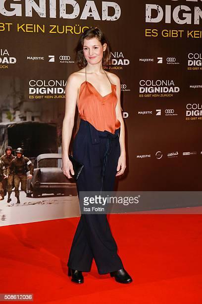 Vicky Krieps attends the 'Colonia Dignidad Es gibt kein zurueck' Berlin Premiere on February 05 2016 in Berlin Germany