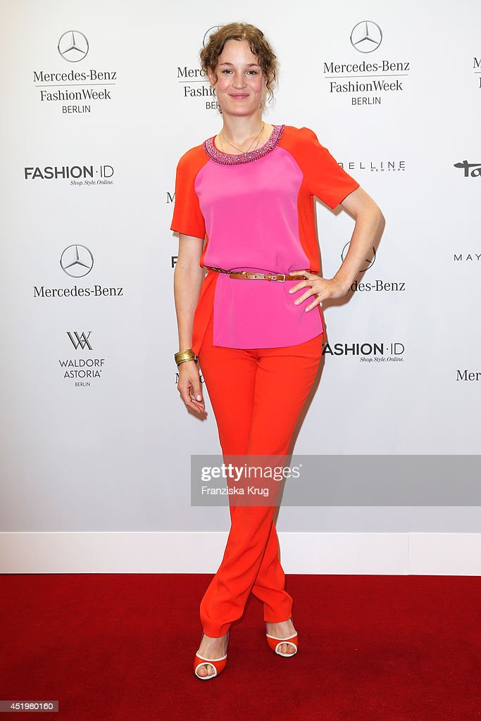 Vicky Krieps attends the Laurel show during the Mercedes-Benz Fashion Week Spring/Summer 2015 at Erika Hess Eisstadion on July 10, 2014 in Berlin, Germany.