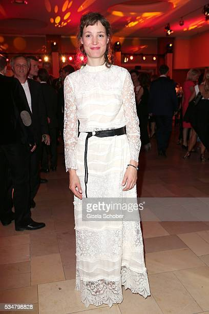 Vicky Krieps wearing a white dress by HM during the Lola German Film Award 2016 after show party at Palais am Funkturm on May 27 2016 in Berlin...