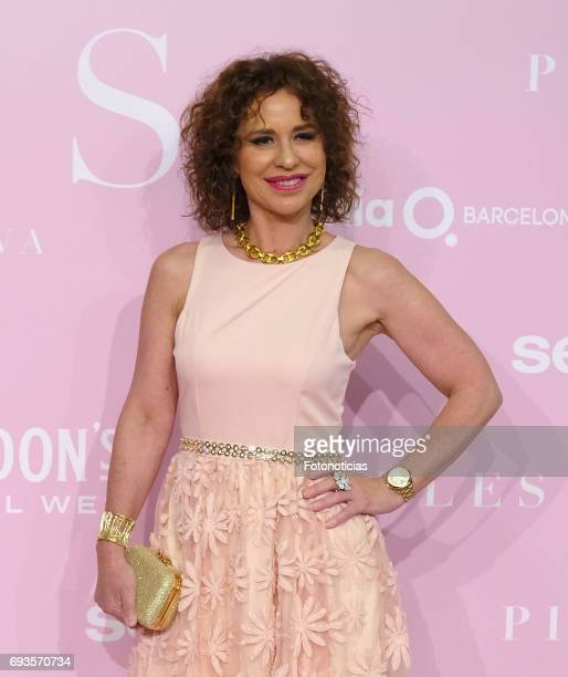 Vicky Larraz attends the 'Pieles' premiere pink carpet at Capitol cinema on June 7 2017 in Madrid Spain