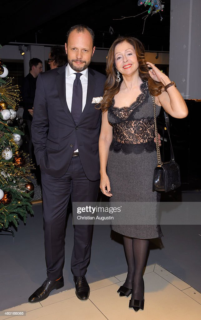 Vicky Leandros and Alexander Franke attend Dinner Party celebrating Vicky Leandros Christmas Tour 2014 Premiere at restaurant Yoshi Alsterhaus on...