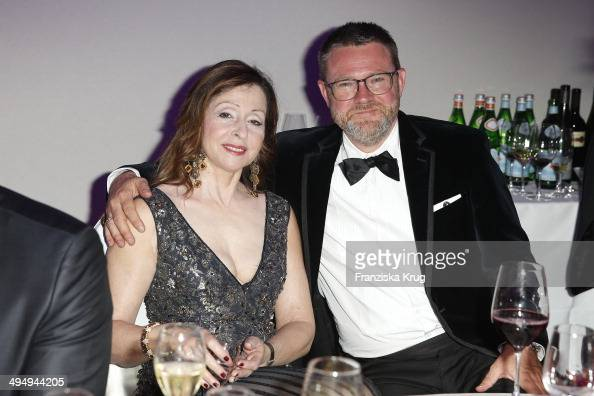 Vicky Leandros and Christian Krug attends the Rosenball 2014 on May 31 2014 in Berlin Germany