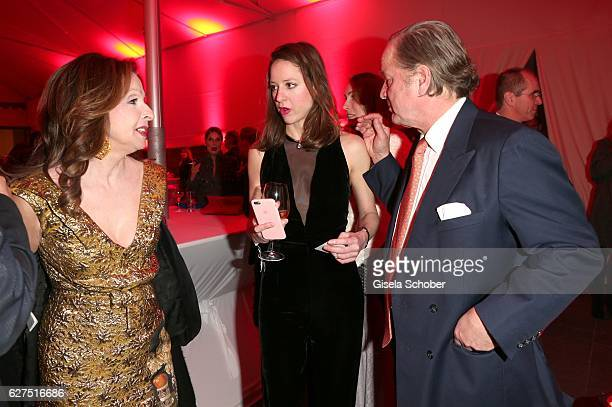 Vicky Leandros and her daughter Sandra von Ruffin and her former husband Eno von Ruffin during the Ein Herz Fuer Kinder after show party at Borchardt...