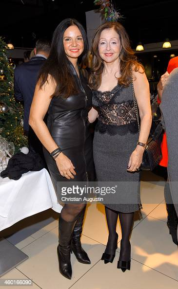 Vicky Leandros and Jola Zorc attend Dinner Party celebrating her Christmas Tour 2014 Premiere at restaurant Yoshi Alsterhaus on December 8 2014 in...