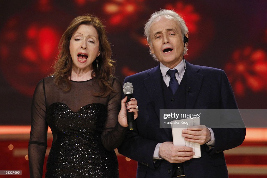 Vicky Leandros and Jose Carreras perform during the 18th Annual Jose Carreras Gala - Rehearsals on December 13, 2012 in Leipzig, Germany.