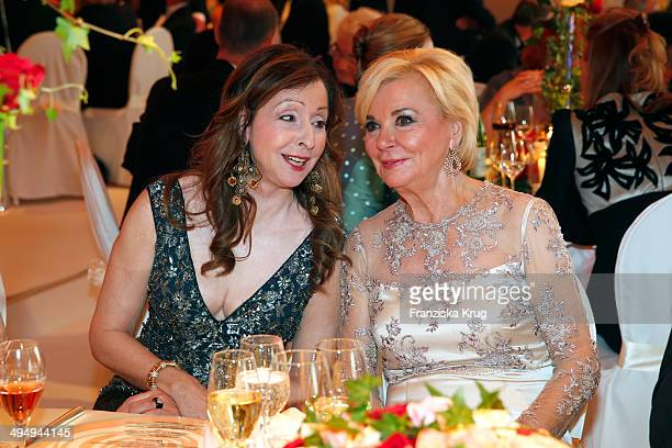 Vicky Leandros and Liz Mohn attend the Rosenball 2014 on May 31 2014 in Berlin Germany