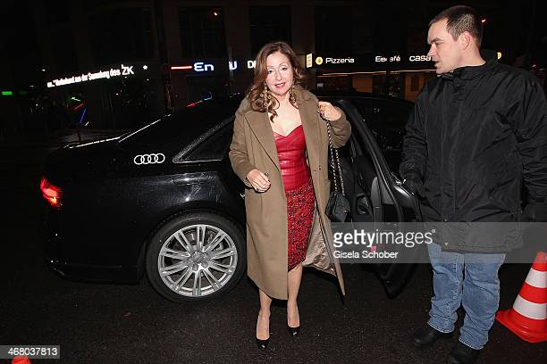 Vicky Leandros arrives in a Audi car at the Bild 'Place to B' Party during the 64th Berlinale International Film Festival on February 8 2014 in...