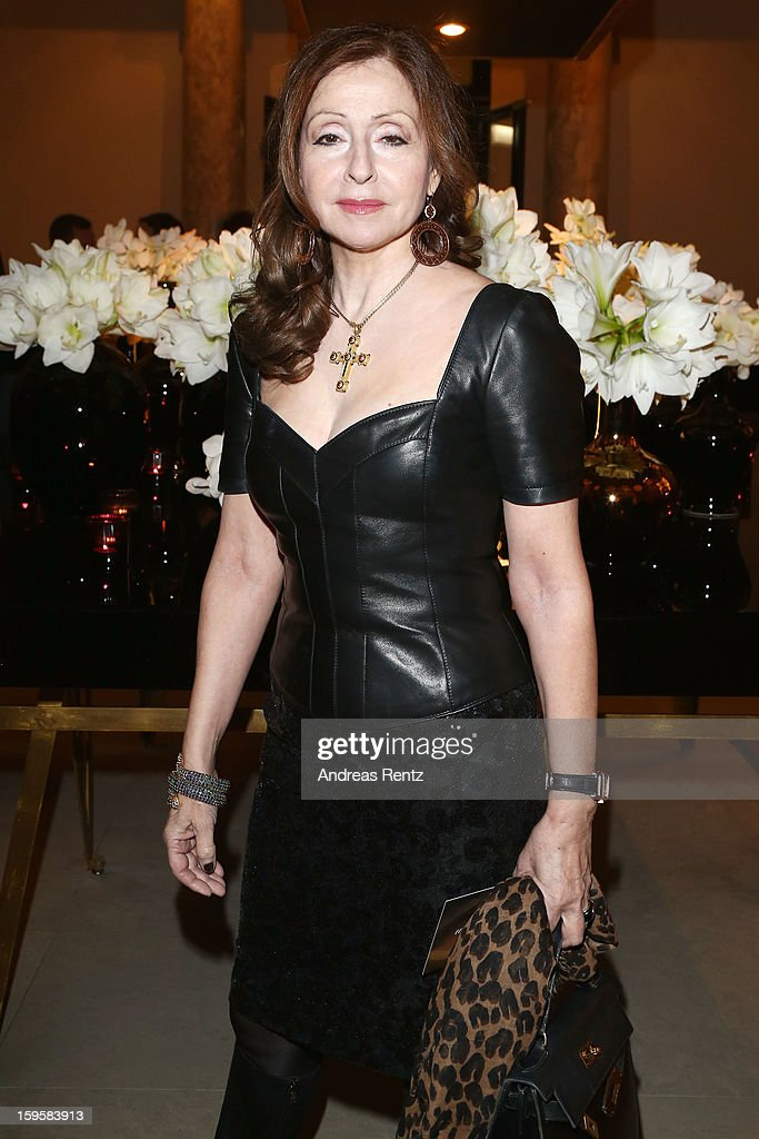 Vicky Leandros attends Basler Autumn/Winter 2013/14 fashion show during Mercedes-Benz Fashion Week Berlin at Hotel De Rome on January 16, 2013 in Berlin, Germany.