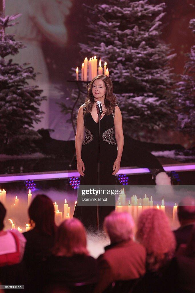 Vicky Leandros attends 'Die Schoensten Weihnachtshits Mit Carmen Nebel' Show on December 6, 2012 in Munich, Germany.