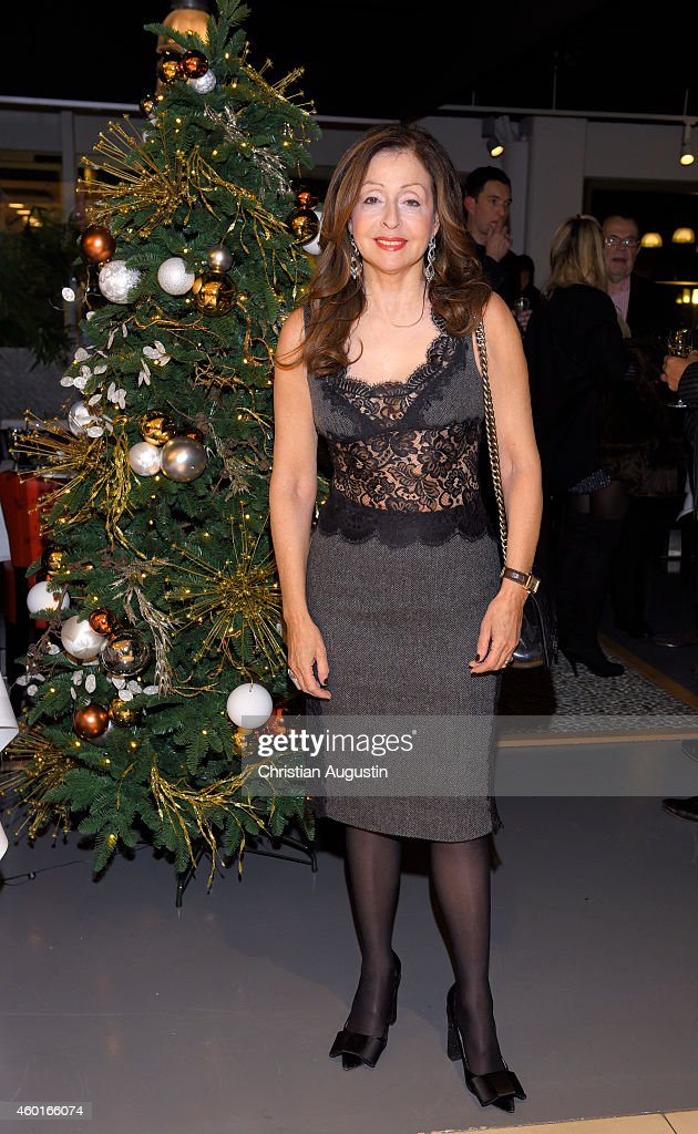 Vicky Leandros attends Dinner Party celebrating her Christmas Tour 2014 Premiere at restaurant Yoshi Alsterhaus on December 8 2014 in Hamburg Germany