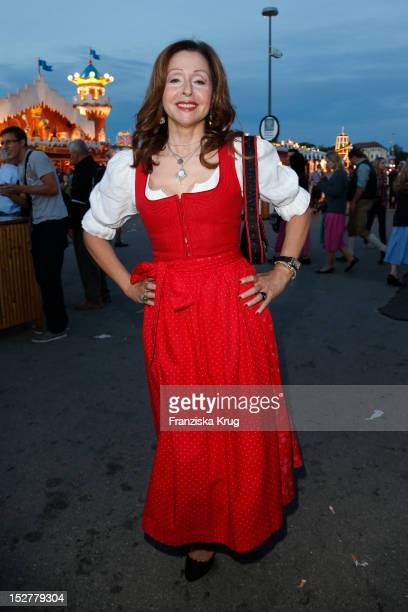 Vicky Leandros attends the 'Goldstar TV Wiesn' as part of the Oktoberfest beer festival at Weinzelt on September 25 2012 in Munich Germany