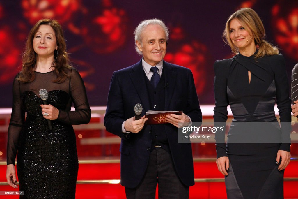 <a gi-track='captionPersonalityLinkClicked' href=/galleries/search?phrase=Vicky+Leandros&family=editorial&specificpeople=652595 ng-click='$event.stopPropagation()'>Vicky Leandros</a>, Jose Carreras and Kim Fisher perform during the 18th Annual Jose Carreras Gala - Rehearsals on December 13, 2012 in Leipzig, Germany.