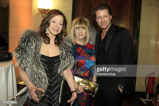 Vicky Leandros Patricia Riekel And Bruno Eyron In The Fashion Gala 'Russian Spring in Berlin' In The Embassy Of The Russian Federation in Berlin