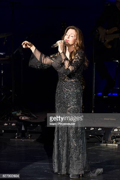 Vicky Leandros performs onstage during her 'Das Leben und ichTour' at the Musical Dome on May 2 2016 in Cologne Germany