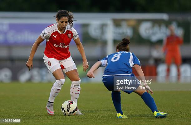 Vicky Losada of Arsenal during the WSL match between Arsenal Ladies FC and Birmingham City Ladies at Meadow Park on October 4 2015 in Borehamwood...
