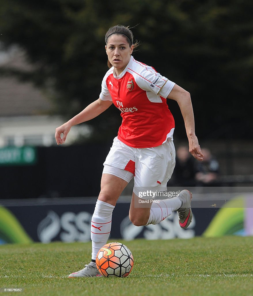 Vicky Losada of Arsenal Ladies during the match between Arsenal Ladies and Notts County Ladies at Meadow Park on April 3, 2016 in Borehamwood, England.