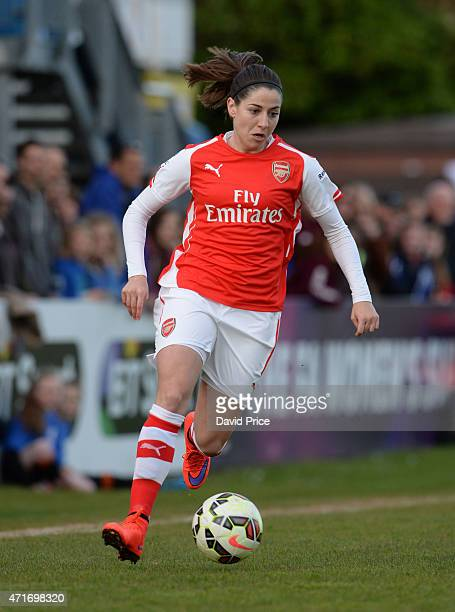 Vicky Losada of Arsenal Ladies during the match between Chelsea Ladies and Arsenal Ladies in the WSL on April 30 2015 in Staines England