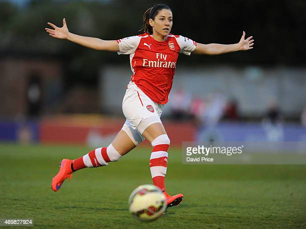 Vicky Losada of Arsenal Ladies during the WSL match between Arsenal Ladies and Bristol Academy at Meadow Park on April 15 2015 in Borehamwood England