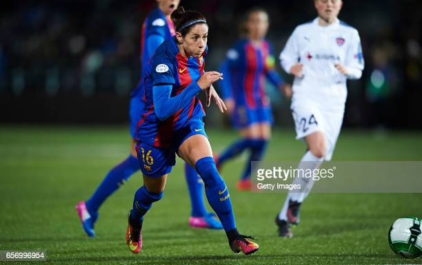 Vicky Losada of FC Barcelona in action during the UEFA Women's Champions League match between Rosengard and FC Barcelona at Malmo Idrottsplats on...