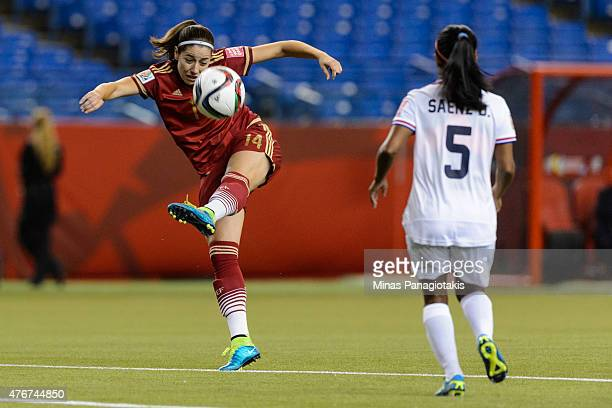 Vicky Losada of Spain kicks the ball during the 2015 FIFA Women's World Cup Group E match against Costa Rica at Olympic Stadium on June 9 2015 in...