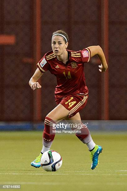 Vicky Losada of Spain moves the ball during the 2015 FIFA Women's World Cup Group E match against Costa Rica at Olympic Stadium on June 9 2015 in...