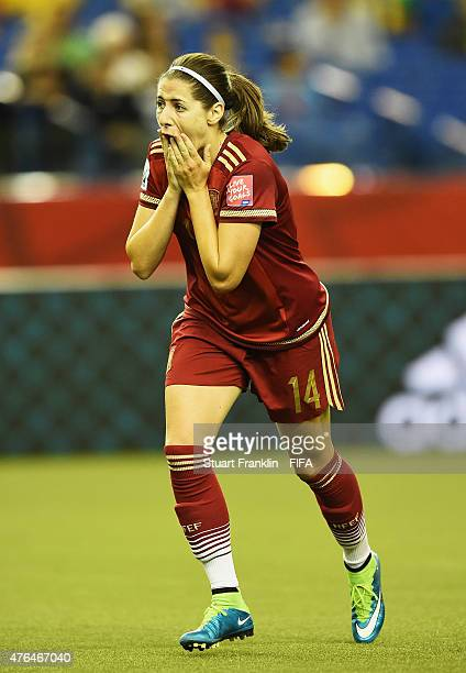 Vicky Losada of Spain reacts during the FIFA Women's World Cup 2015 group E match between Spain and Costa Rica at Olympic Stadium on June 9 2015 in...