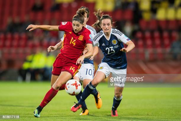 Vicky Losada of Spain women Chloe Arthur of Scotland women during the UEFA WEURO 2017 Group D group stage match between Scotland and Spain at The...