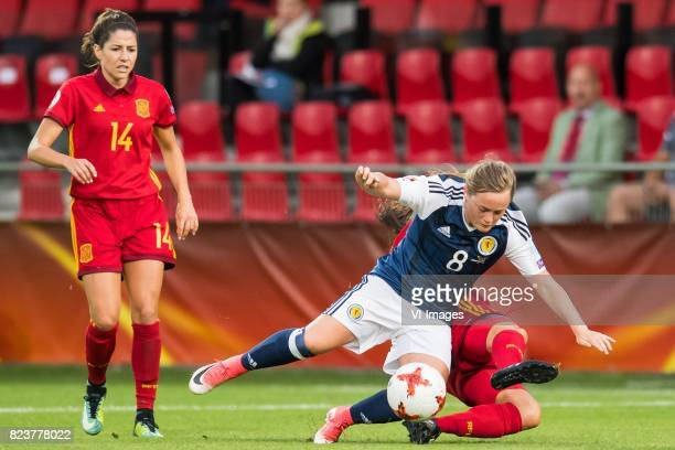 Vicky Losada of Spain women Erin Cuthbert of Scotland women Andrea Pereira of Spain women during the UEFA WEURO 2017 Group D group stage match...