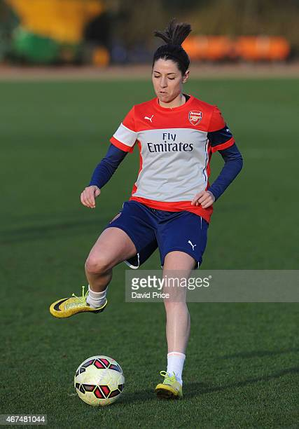 Vicky Losada of the Arsenal Ladies during their training session at London Colney on March 24 2015 in St Albans England