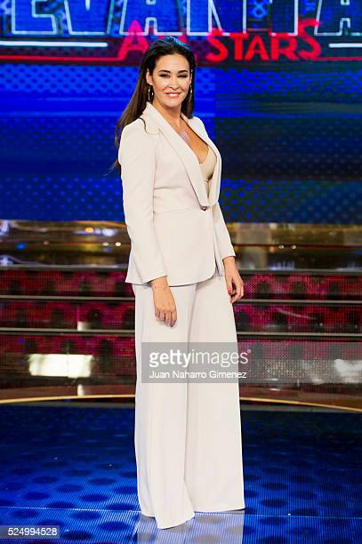 Vicky Martin Berrocal attends 'Levantate All Star' photocall at Estudias Picasso on April 27 2016 in Madrid Spain