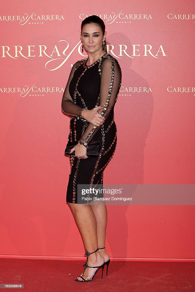 Vicky Martin Berrocal attends 'Maja de los Goya Awards 2012' at Fernan Nunez Palace on March 7, 2013 in Madrid, Spain.