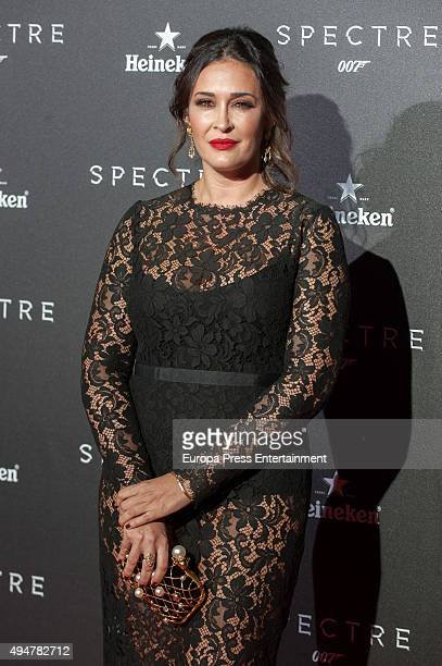 Vicky Martin Berrocal attends 'Spectre' premiere on October 28 2015 in Madrid Spain