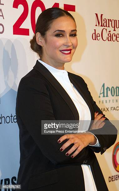 Vicky Martin Berrocal attends the first day of the International Flamenco Fashion Show SIMOF 2015 at Palacio de Congresos on February 5 2015 in...