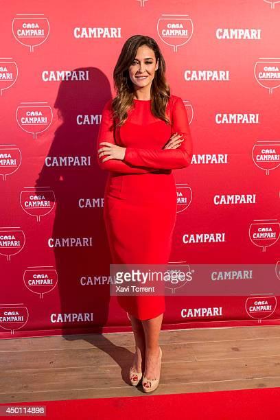 Vicky Martin Berrocal inaugurates Campari House in Barcelona on June 5 2014 in Barcelona Spain