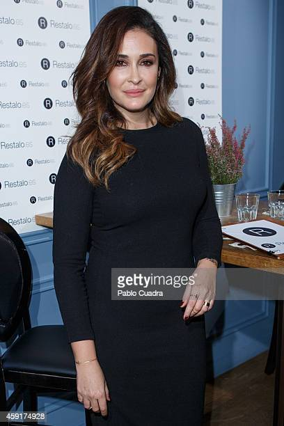 Vicky Martin Berrocal poses during a photocall to present 'Restaloes' at Pipa and Co restaurant on November 18 2014 in Madrid Spain
