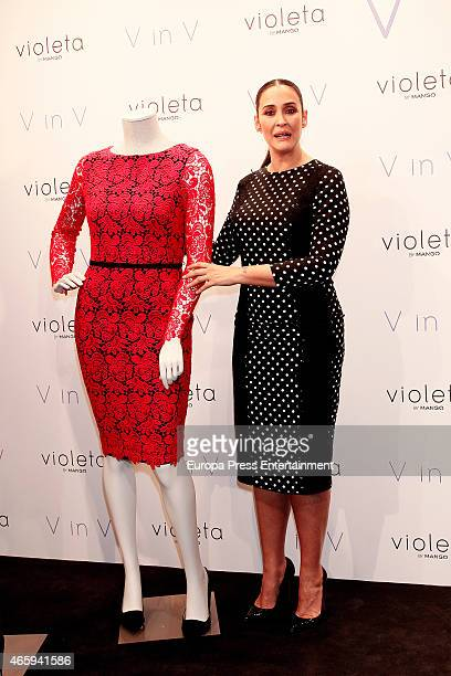 Vicky Martin Berrocal presents the limited edition of her clothes designers for Violeta by Mango on March 11 2015 in Madrid Spain