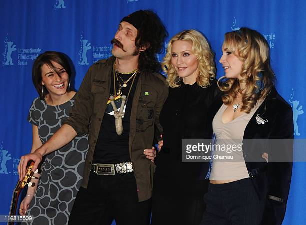 Vicky McClure Eugene Hutz Madonna and Holly Weston attend the 'Filth and Wisdom' photocall as part of the 58th Berlinale Film Festival at the Grand...