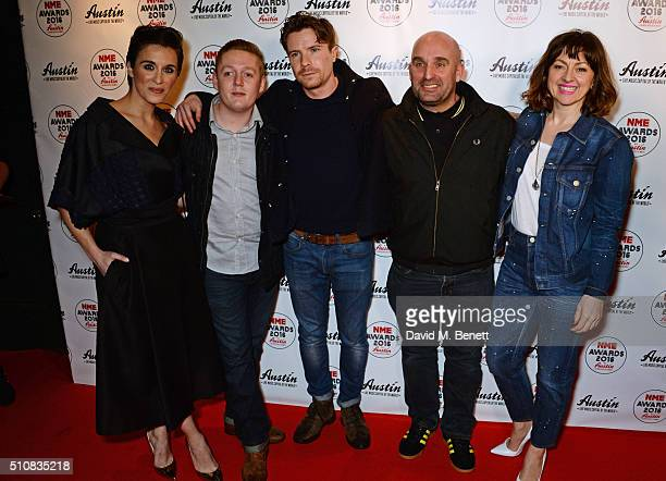 Vicky McClure Thomas Turgoose Joe Dempsie Shane Meadows and Jo Hartley attend the NME Awards with Austin Texas at the O2 Academy Brixton on February...