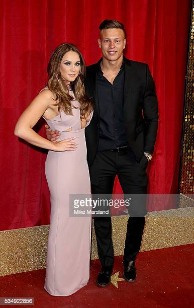 Vicky Pattison and Alex Bowen attend the British Soap Awards 2016 at Hackney Empire on May 28 2016 in London England