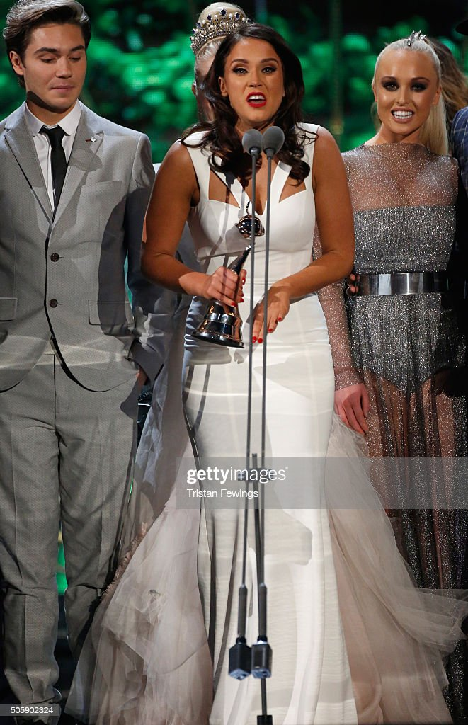 Vicky Pattison and Brian Friedman receives the award for Best Entertainment Programme 'I'm A CelebrityGet Me Out Of Here' the 21st National...