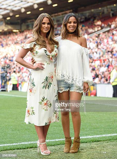 Vicky Pattison and Rochelle Humes attend Soccer Aid 2016 at Old Trafford on June 5 2016 in Manchester United Kingdom
